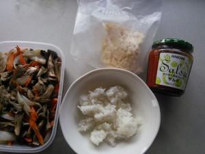 7分で出来る昼食の材料